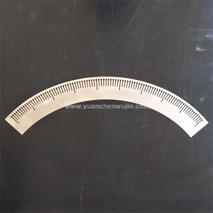 Carbon Steel Instrument Scale Plate Customized Processing