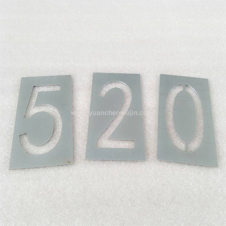 Hollow Out Digital Alphanumeric Spray Paint Template
