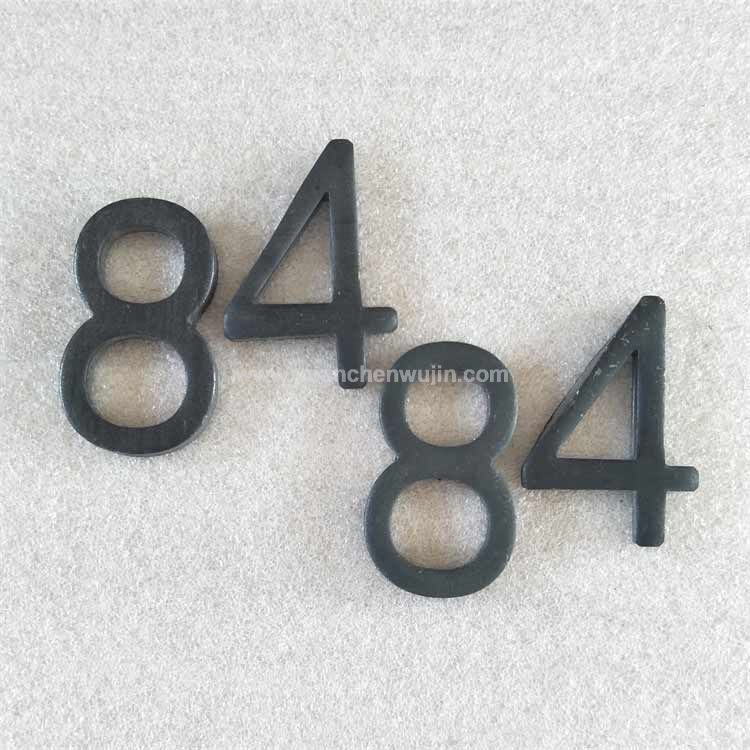 Stamped Carbon Steel Small Metal Letters and Numbers