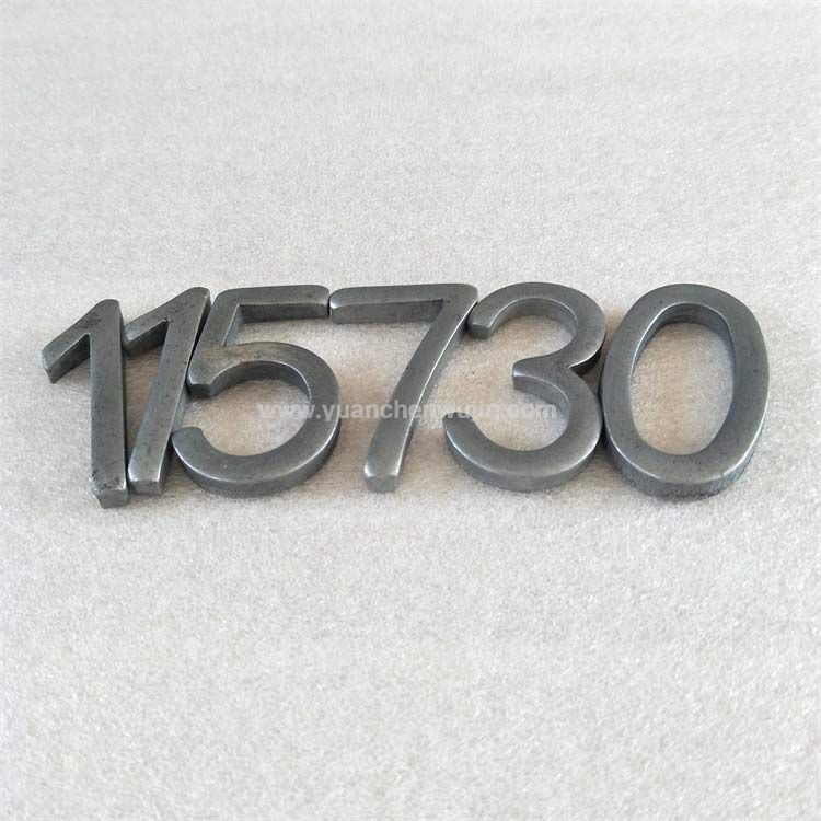 Metal Letters and Numbers for the Nameplate of Products or Equipment